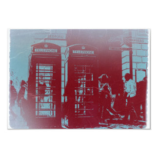 "Cabina de teléfono de Londres Invitación 3.5"" X 5"""