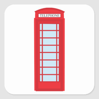 Cabina de teléfono de Londres Pegatina Cuadrada