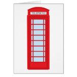 Cabina de teléfono de Londres Tarjeta