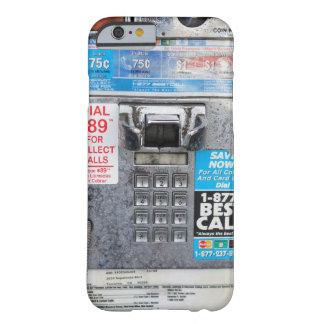 Cabina de teléfono de pago pública divertida funda de iPhone 6 barely there