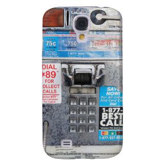 Cabina de teléfono de pago pública divertida