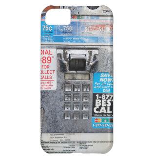Cabina de teléfono de pago pública divertida funda para iPhone 5C
