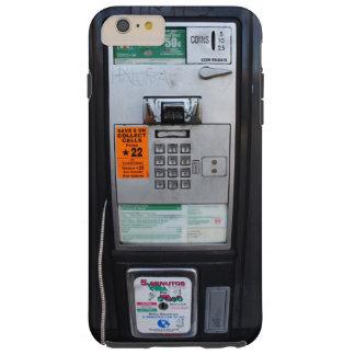 Cabina de teléfono de pago pública divertida funda resistente iPhone 6 plus