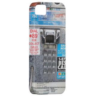 Cabina de teléfono de pago pública divertida iPhone 5 carcasa