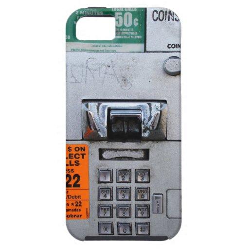 Cabina de teléfono de pago pública divertida siete iPhone 5 Case-Mate carcasa