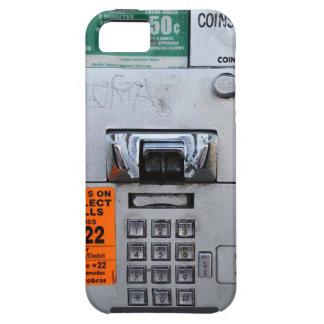 Cabina de teléfono de pago pública divertida siete iPhone 5 carcasa