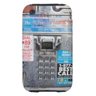 Cabina de teléfono de pago pública divertida tough iPhone 3 fundas