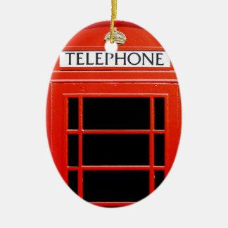 Cabina de teléfono del vintage adorno ovalado de cerámica