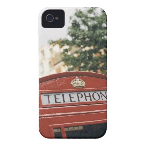 Cabina de teléfono en Londres Inglaterra iPhone 4 Protector