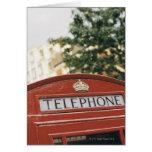 Cabina de teléfono en Londres Inglaterra Felicitaciones