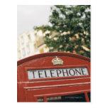 Cabina de teléfono en Londres Inglaterra Tarjetas Postales
