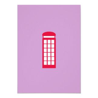 """cabina de teléfono invitación 5"""" x 7"""""""