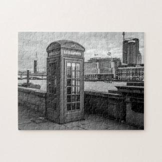 Cabina de teléfono monocromática Londres Puzzle