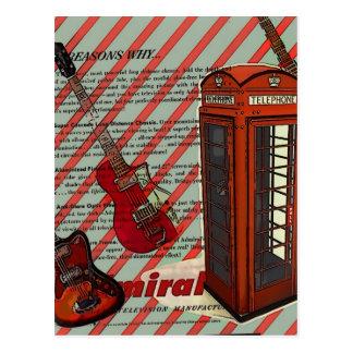 cabina de teléfono musical moderna de Londres de Tarjeta Postal
