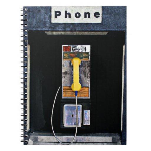 Cabina de teléfono original spiral notebooks