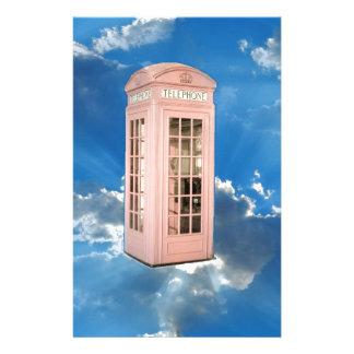 cabina de teléfono personalized stationery