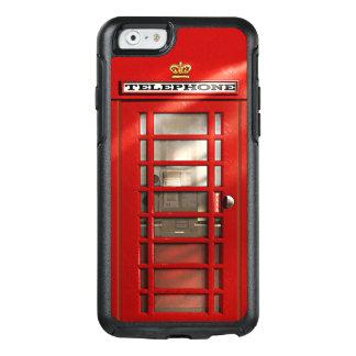 Cabina de teléfono roja británica de la ciudad de funda otterbox para iPhone 6/6s