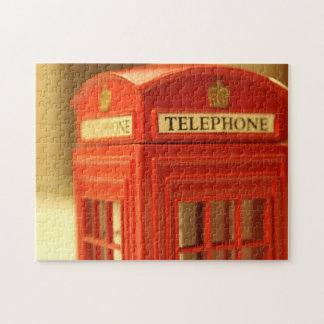 Cabina de teléfono roja rompecabezas