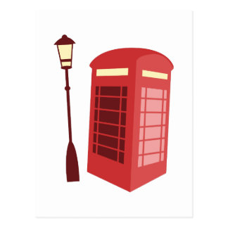 Cabina de teléfono roja postal