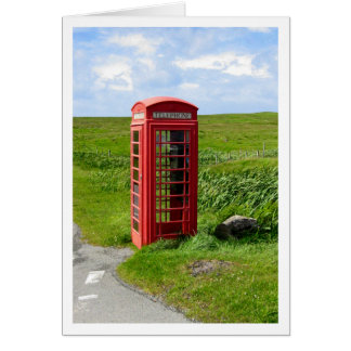 Cabina de teléfono tarjeta de felicitación