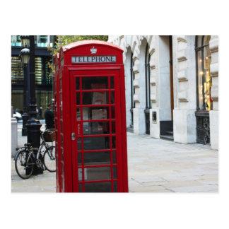 Cabina de teléfono tarjeta postal
