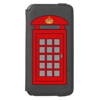 Cabina de teléfonos británica funda billetera para iPhone 6 watson
