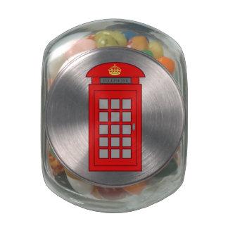 Cabina de teléfonos británica jarras de cristal jelly bely