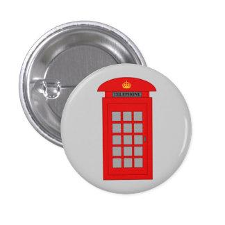 Cabina de teléfonos británica pin redondo 2,5 cm