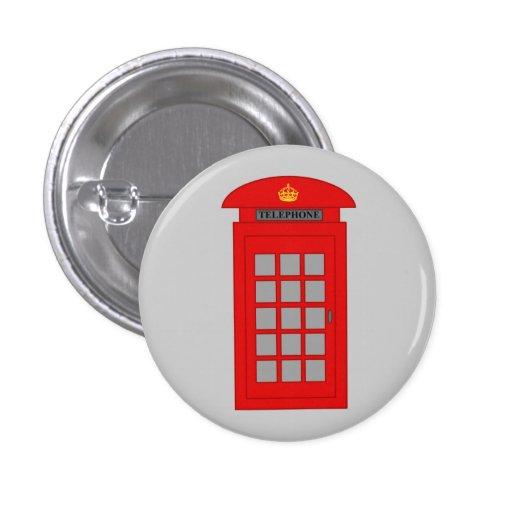 Cabina de teléfonos británica pin redondo de 1 pulgada
