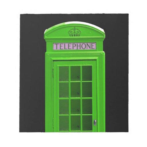 Cabina de teléfonos de Londres Inglaterra Libretas Para Notas