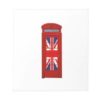 Cabina de teléfonos de Londres Inglaterra Bloc De Papel