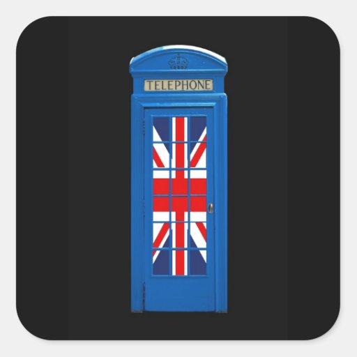 Cabina de teléfonos de Londres Inglaterra Pegatina Cuadrada