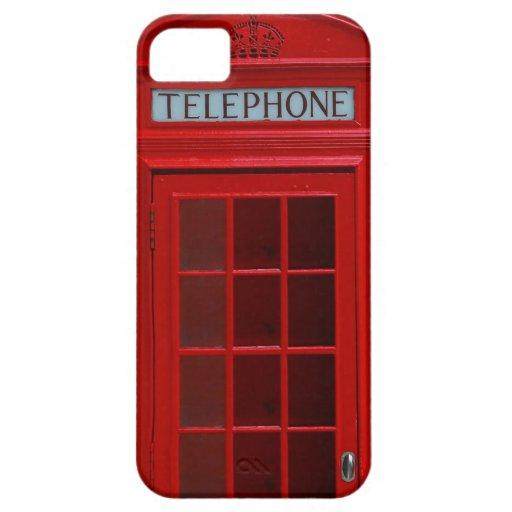 Cabina de teléfonos de Londres iPhone 5 Fundas