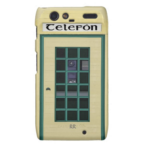 Cabina de teléfonos público irlandesa Motorola Motorola Droid RAZR Funda