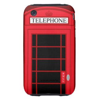 Cabina de teléfonos público roja clásica Reino Funda Resistente Para iPhone 3