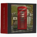 """Cabina de teléfonos roja británica 2"""" carpeta"""