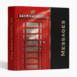 """Cabina de teléfonos roja británica clásica carpeta 1"""""""