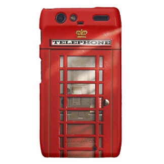 Cabina de teléfonos roja británica clásica motorola droid RAZR fundas