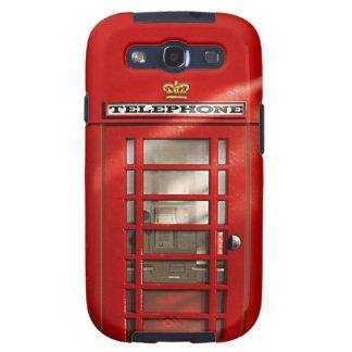 Cabina de teléfonos roja británica clásica samsung galaxy s3 funda