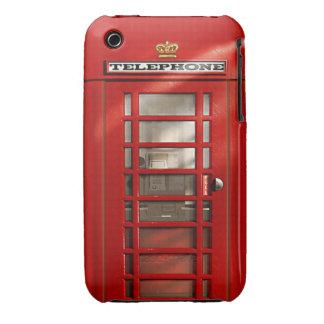 Cabina de teléfonos roja británica clásica iPhone 3 Case-Mate carcasas