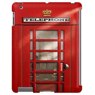 Cabina de teléfonos roja británica clásica funda para iPad