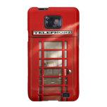 Cabina de teléfonos roja británica clásica samsung galaxy s2 funda