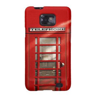 Cabina de teléfonos roja británica clásica galaxy s2 funda