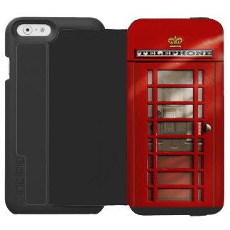 Cabina de teléfonos roja británica clásica funda billetera para iPhone 6 watson
