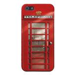 Cabina de teléfonos roja británica clásica iPhone 5 cárcasas