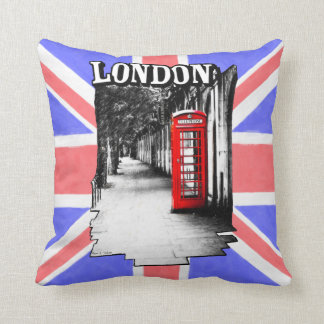 Cabina de teléfonos roja británica de Londres Cojín