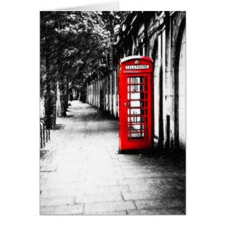 Cabina de teléfonos roja británica de Londres Tarjeta De Felicitación