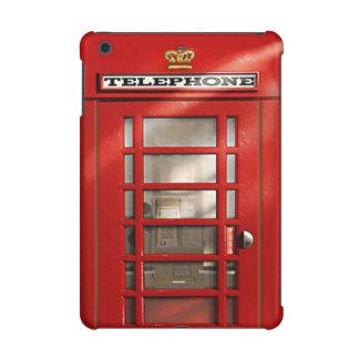 Cabina de teléfonos roja británica del vintage