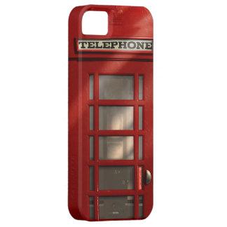 Cabina de teléfonos roja británica del vintage iPhone 5 funda