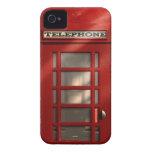 Cabina de teléfonos roja británica del vintage iPhone 4 Case-Mate protector